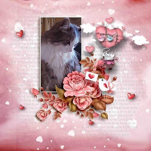 C'Est Chat L'Amour by dentelle scrap