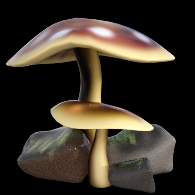 Tube de champignons magiques (render-image)