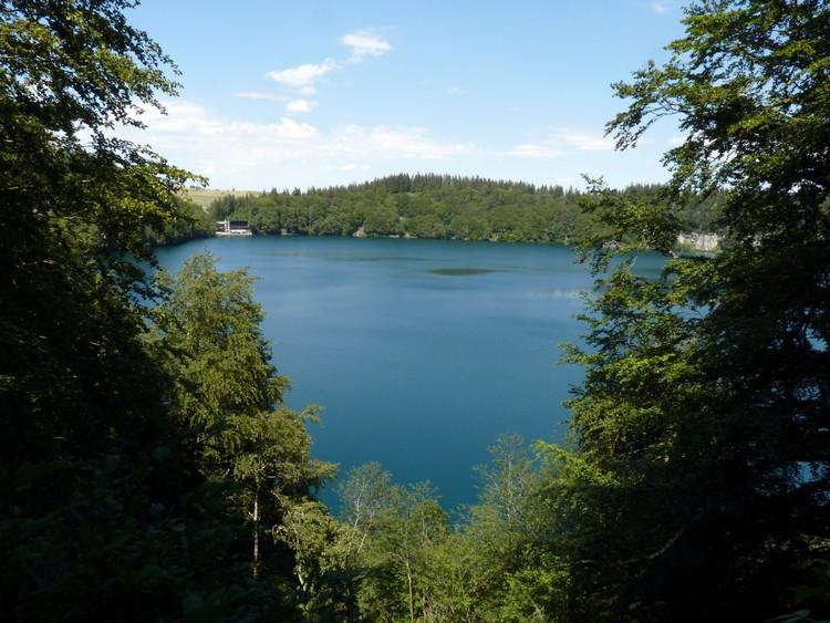Le lac vu de plus haut