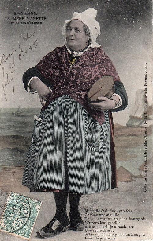 1905 - La Mère Nanette, une fière Sablaise...