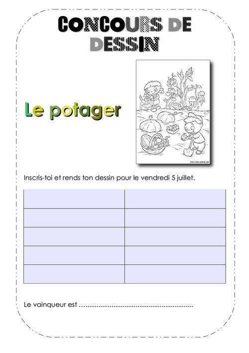 Le concours de dessin sur le thème du potager