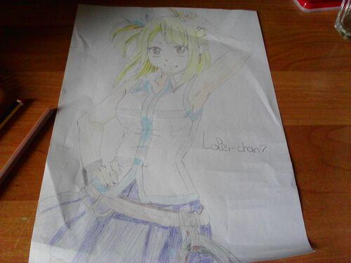 Dessin #1: Lucy Heartfilia