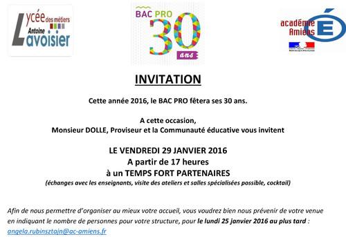Invitation lycée Lavoisier