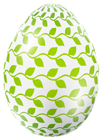 Easter Egg with Leaves PNG Clip Art Image