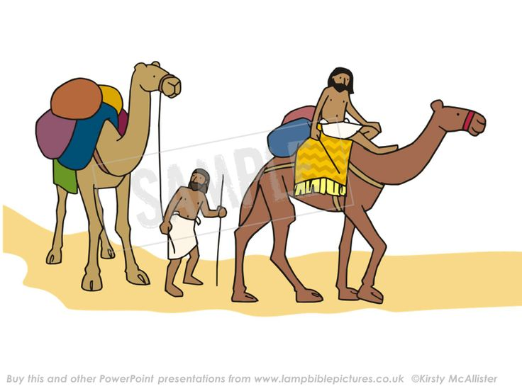 Ishmaelite traders. From the PowerPoint presentation: Joseph - sold by his brothers | Lamp Bible Pictures