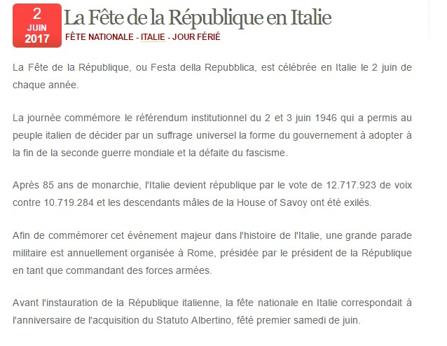 Fête nationale de l'Italie