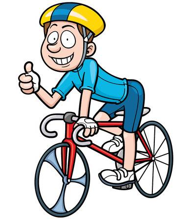 Vector illustration du cycliste Cartoon Banque d'images - 39704675