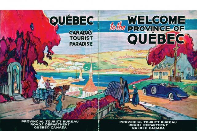 Cette brochure destinée aux automobilistes, parue entre 1926... (Illustration fournie par Maude-Emmanuelle Lambert, tirée de sa collection personnelle)
