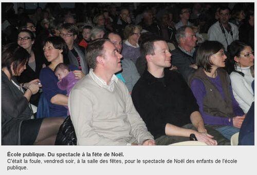LE TÉLÉGRAMME - 26/12/2012 - Du spectacle à la fête de Noël.