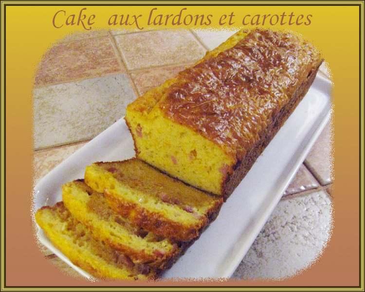 Recette de cuisine : Cake aux lardons et carottes