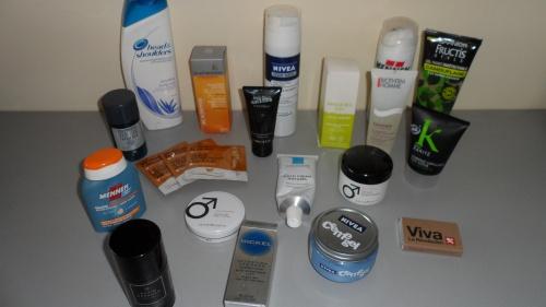 Produits soins du visage, yeux, gel cheveux etc...