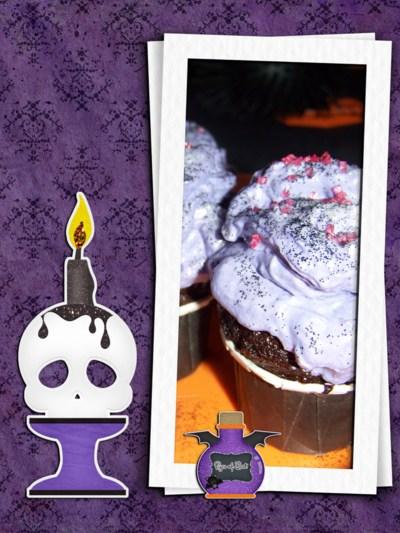 Blog de chipiron :Un chipiron dans les Landes, Cup cake halloween mauve