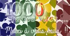 News du 08/12/13 : 1000 pages vues !!
