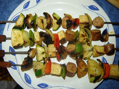 Brochettes végétales