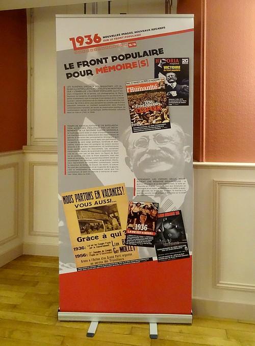 Une belle exposition sur le Front Populaire à voir absolument, salle des conférences de la Mairie de Châtillon sur Seine....