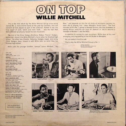 "1968 : Willie Mitchell : Album "" On Top "" HI Records SHL 32048 [ US ]"