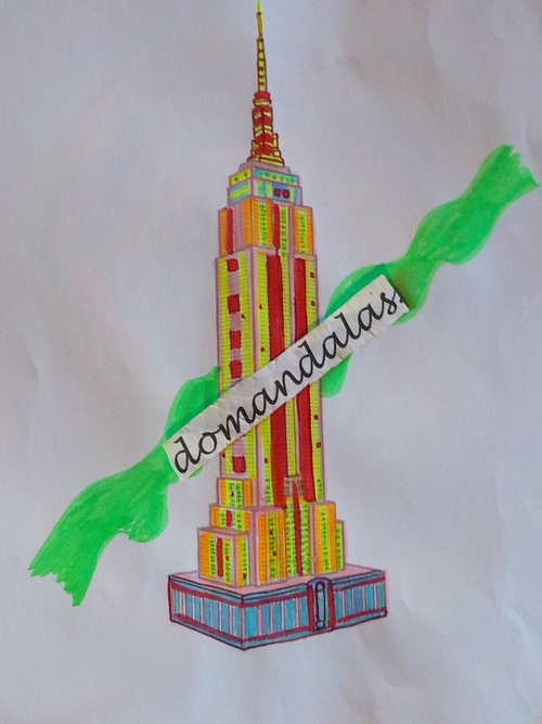 DOMANDALAS  coloriage bâtiment New York
