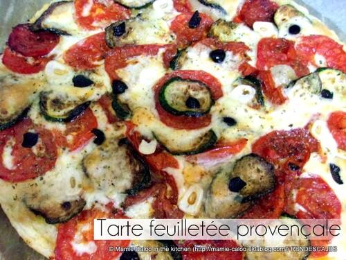 Tarte feuilletée provençale
