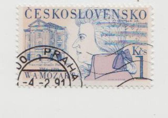 Wolfgang Amadeus Mozart - Tchécoslovaquie - 1991 - Bicentenaire de sa mort