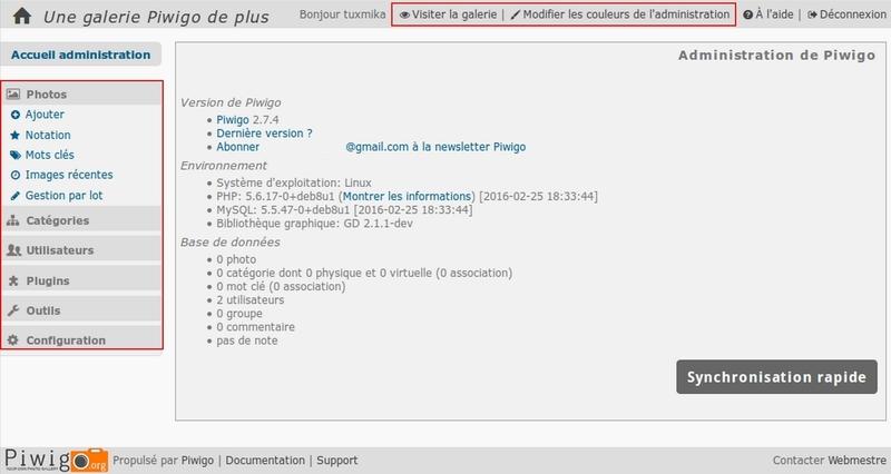 Installer Piwigo sur Debian Jessie