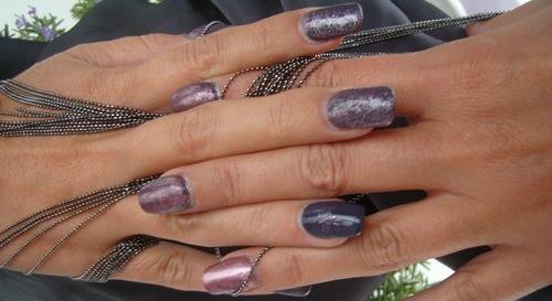 Nail art : Métal - Saran wrap