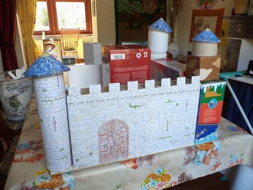 Un chateau tout en recyclé