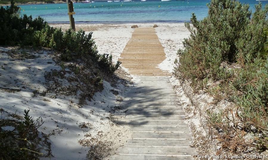 La plage d'Argent à Porquerolles