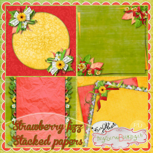 "Kit ""Strawberry fizz"" de Scrap'Angie"