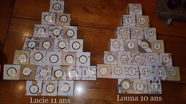 Calendriers de l'avent de Lucie et Louna