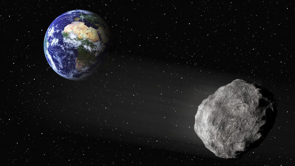"""Un astéroïode nommé 2003 SD220 passera """"à proximité"""" de la Terre le 24 décembre 2015 (image d'illustration)."""