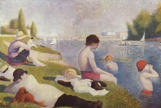 Georges Seurat, Une baignade à Asnières
