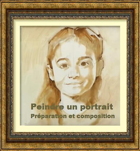 Dessin et peinture - vidéo 2635 : Apprendre à débuter un portrait à la peinture à l'huile 1.