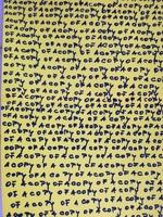 Flugblatt mit serieller Copyofacopy-Beschriftung