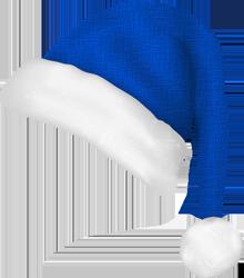 bonnet de Noel bleu