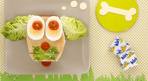 Sandwich poulet salade et kiri