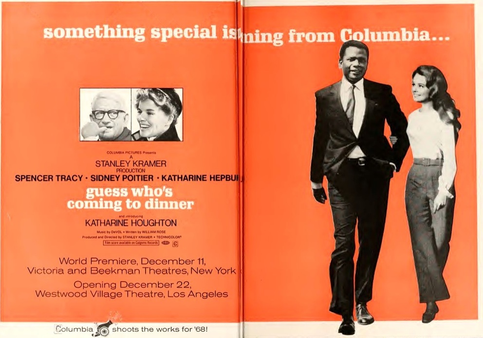GUESS WHO'S COMING TO DINNER box office USA 1967