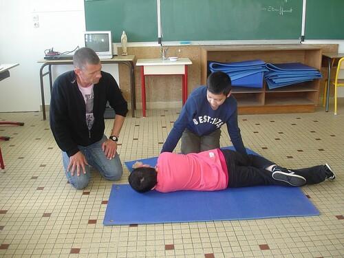 Les élèves de CM2 portent secours!