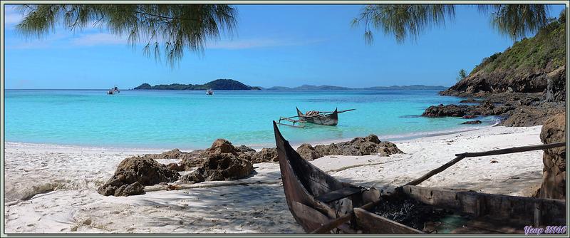 Pirogues - Nosy Tsarabanjina - Archipel Mitsio - Madagascar