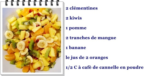 Salade de fruits à la cannelle
