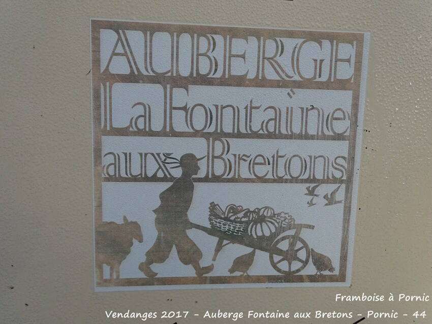 Pornic, Vendanges à l'Auberge de la Fontaine aux bretons - 2017