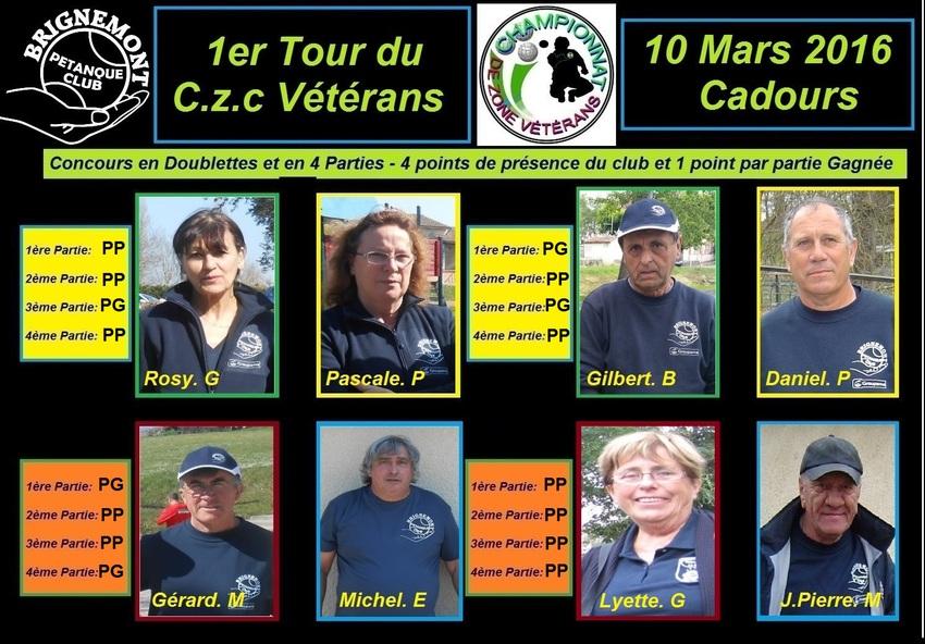 Championnat de Zone Vétérans 1ère Journée.