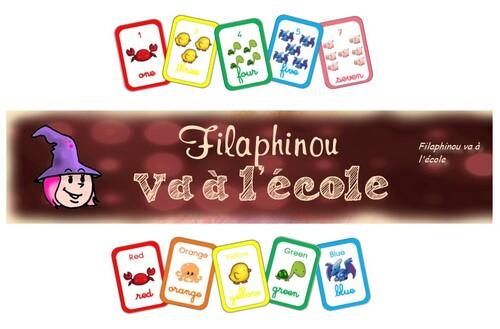 Flash cards nombres et couleurs