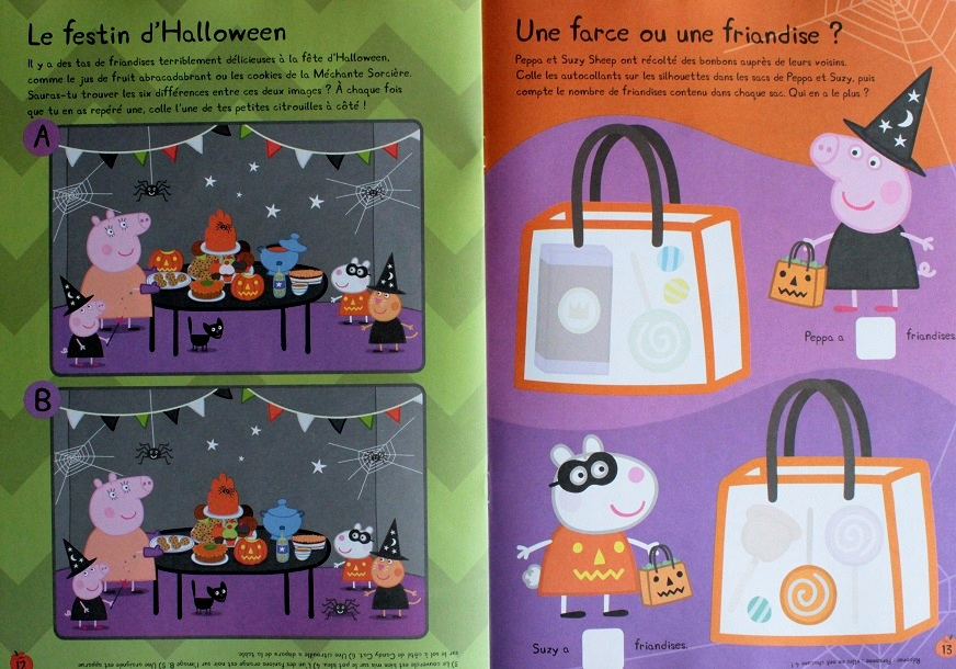Peppa Fete Halloween Mon Livre D Autocollants Jeunesse