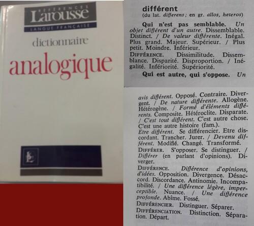 La différence à travers le dictionnaire