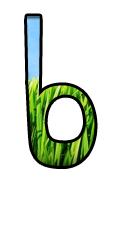 Affichage pour faciliter la lecture des lettres b d q p