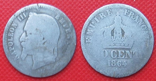 10 cent 1864 napoleon III