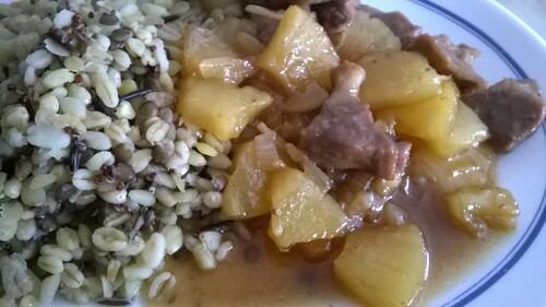 porc au caramel et ananas