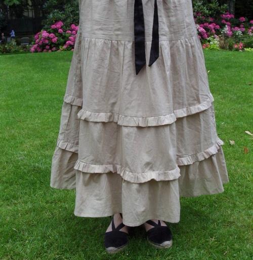 Petite astuce pour raccourcir une jupe trop longue...