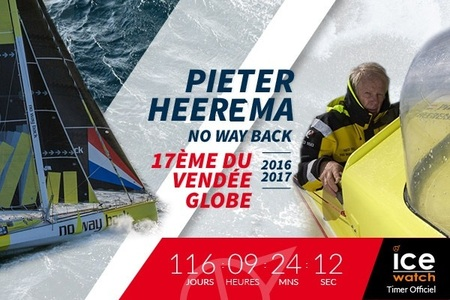 Jeudi 2 mars : Pieter Heerema 17ème du Vendée Globe 2016-2017
