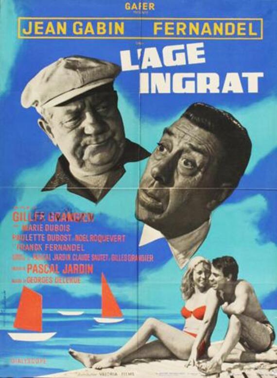 L' AGE INGRAT - JEAN GABIN BOX OFFICE 1964